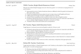 004 Dreaded Good Resume For Teaching Job Image  Sample Teacher Fresher In India