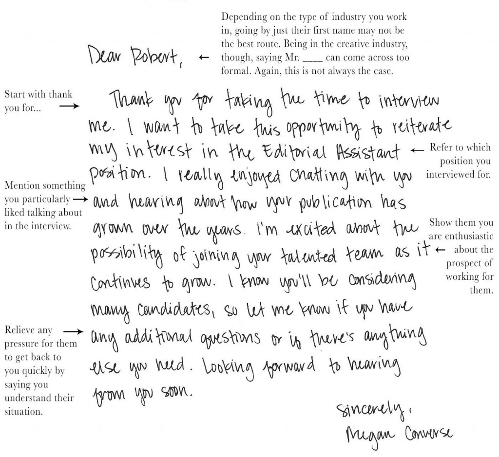 004 Dreaded Handwritten Thank You Note After Interview Template Photo Large