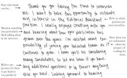 004 Dreaded Handwritten Thank You Note After Interview Template Photo