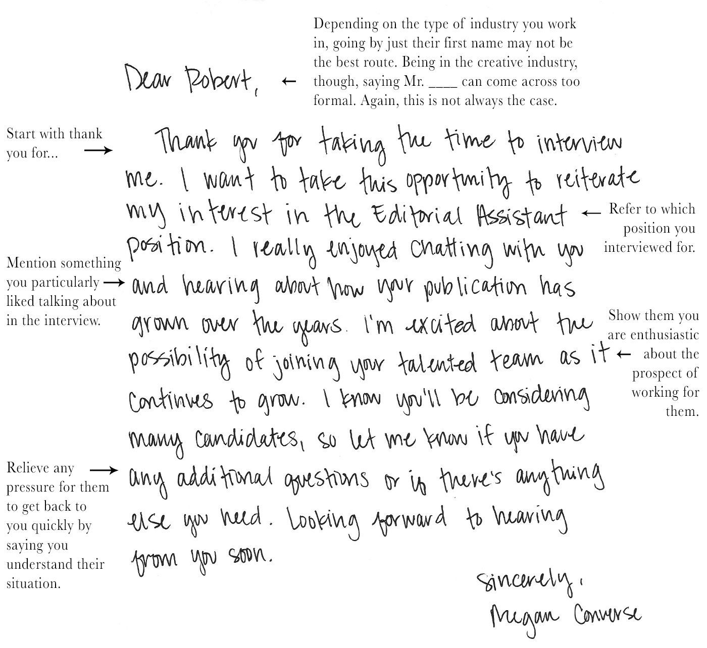 004 Dreaded Handwritten Thank You Note After Interview Template Photo Full