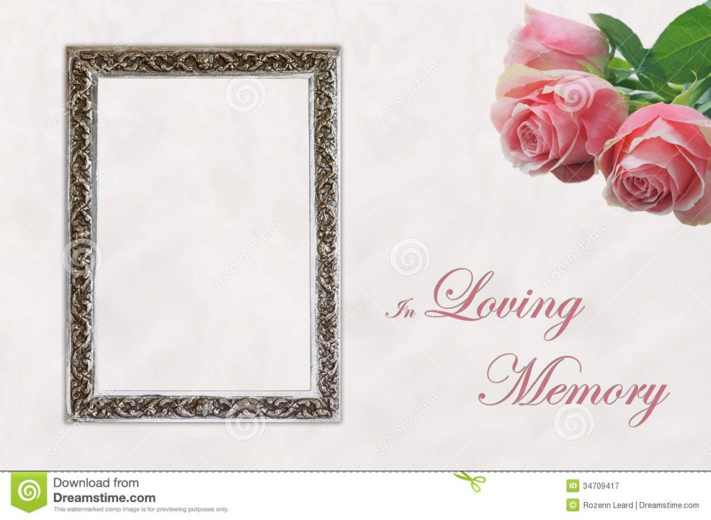 004 Dreaded In Loving Memory Template Word Concept Large