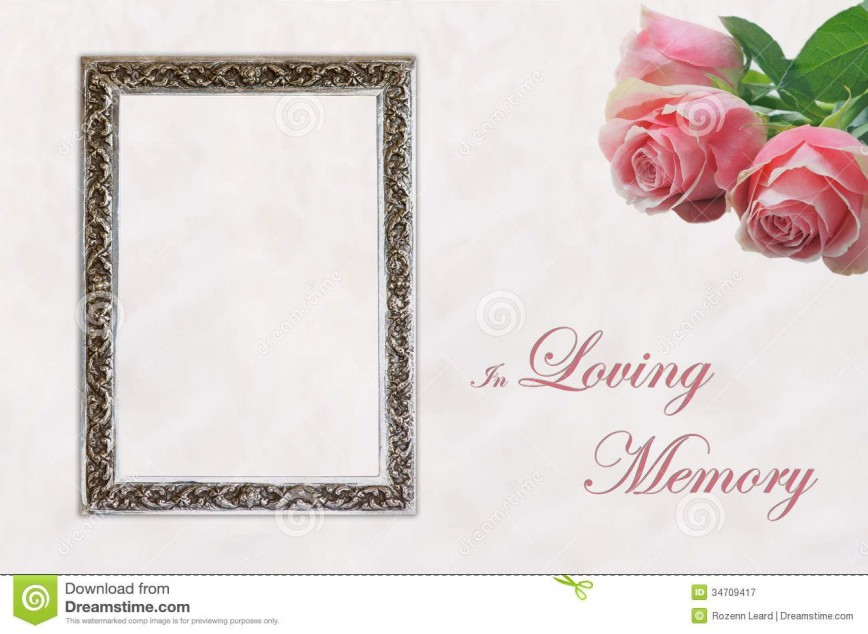 004 Dreaded In Loving Memory Template Word Concept