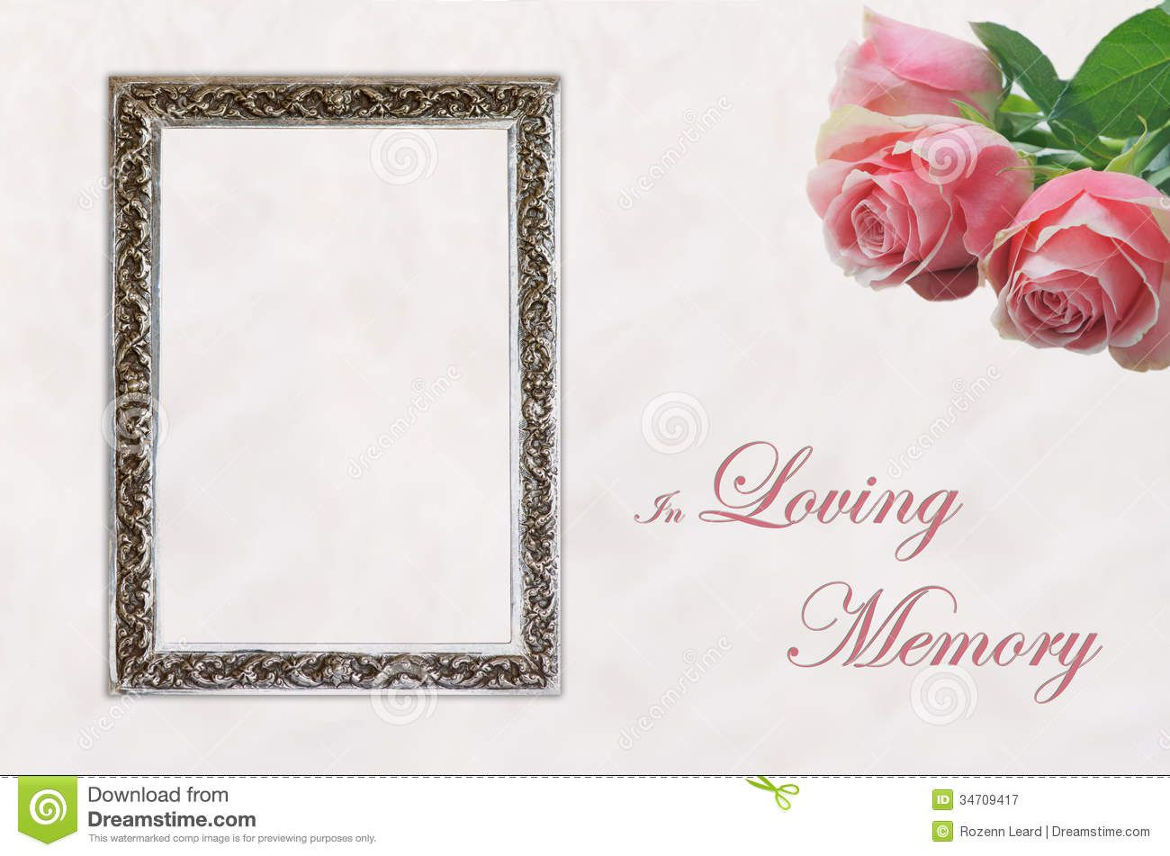 004 Dreaded In Loving Memory Template Word Concept Full