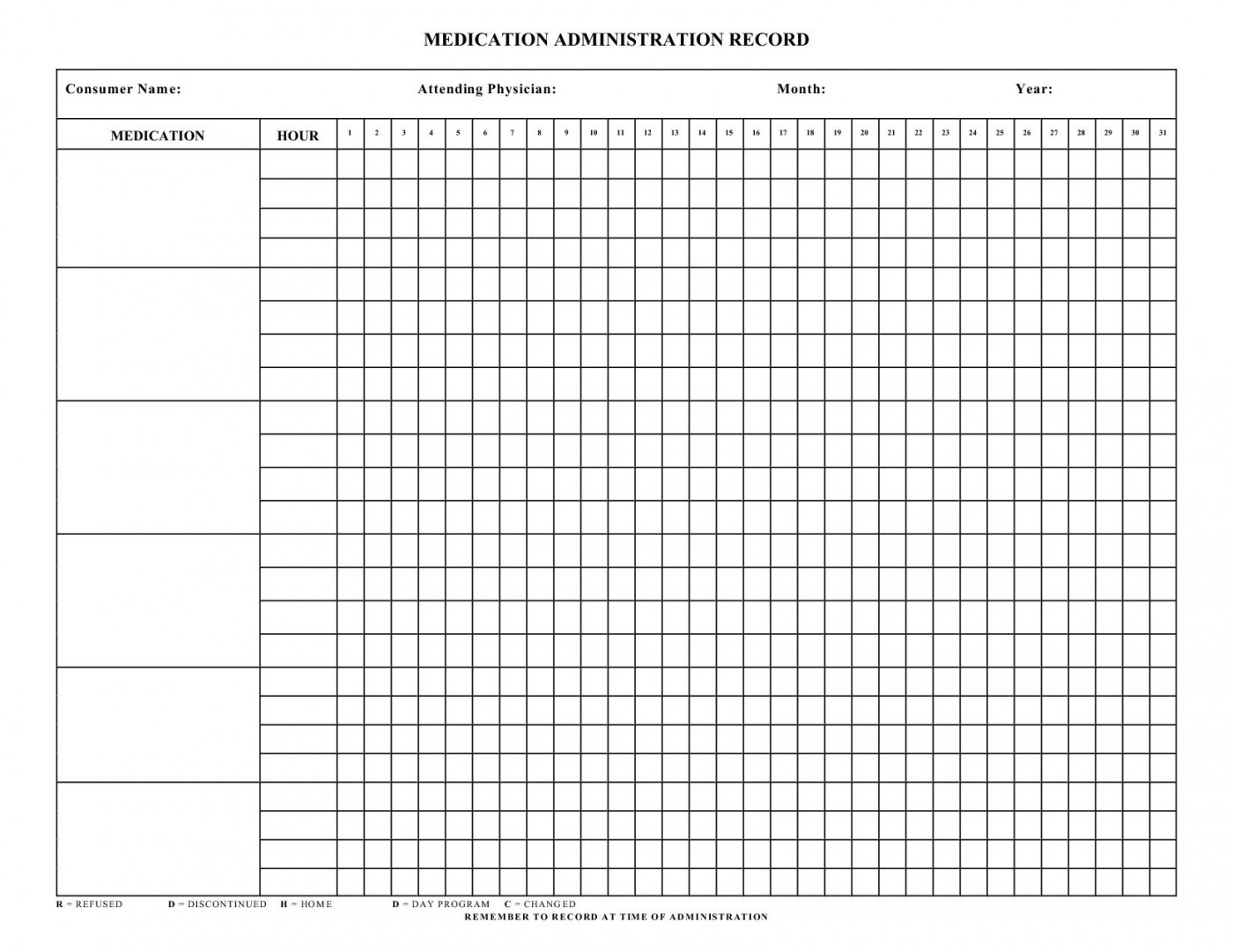 004 Dreaded Medication Administration Record Template Pdf High Resolution  Free Simple1400