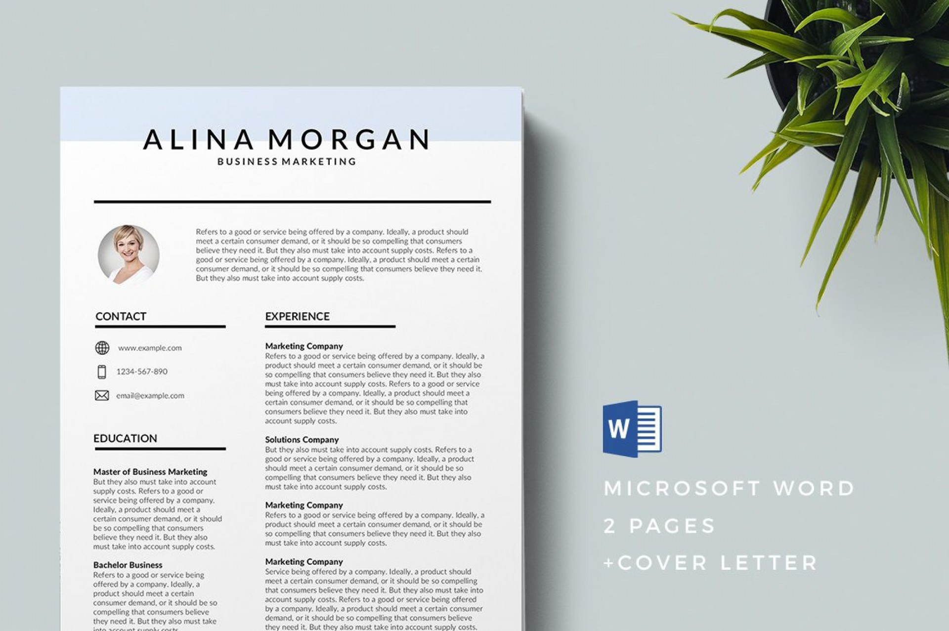 004 Dreaded Modern Cv Template Word Free Download 2019 Image 1920