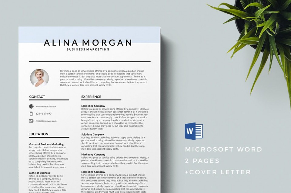 004 Dreaded Modern Cv Template Word Free Download 2019 Image 960