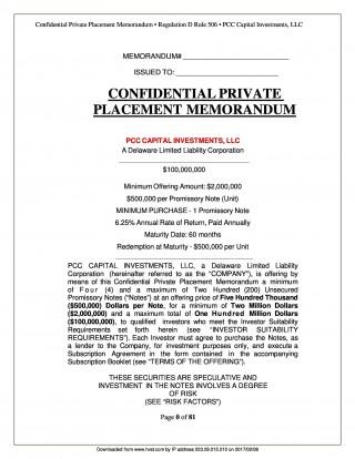 004 Dreaded Private Placement Memorandum Template Word Example 320