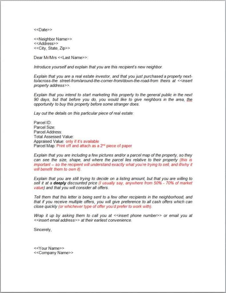 004 Dreaded Real Estate Marketing Letter Example High Def  Examples Agent SampleFull