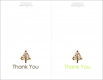 004 Dreaded Thank You Note Card Template Word Photo 360