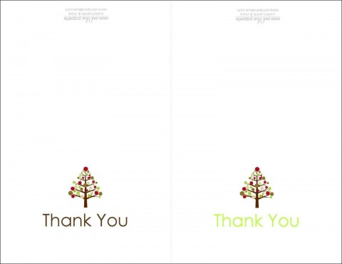 004 Dreaded Thank You Note Card Template Word Photo 480