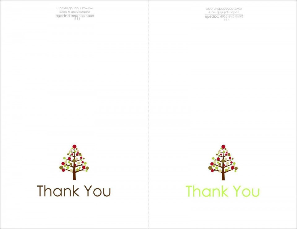 004 Dreaded Thank You Note Card Template Word Photo 960