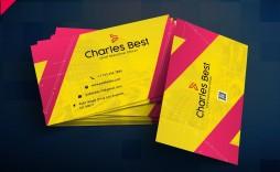 004 Excellent Busines Card Template Free Download Idea  Psd File Pdf Ppt