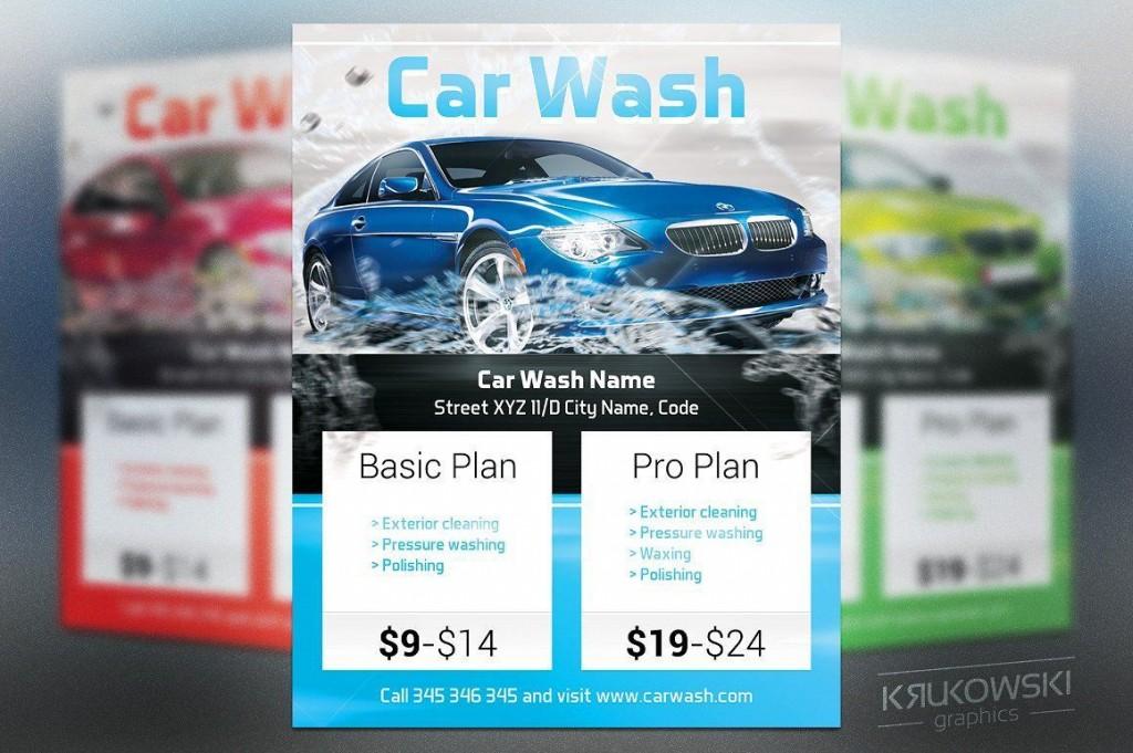 004 Excellent Car Wash Flyer Template High Def  Free Fundraiser DownloadLarge