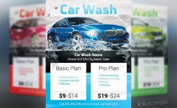004 Excellent Car Wash Flyer Template High Def  Free Fundraiser Download