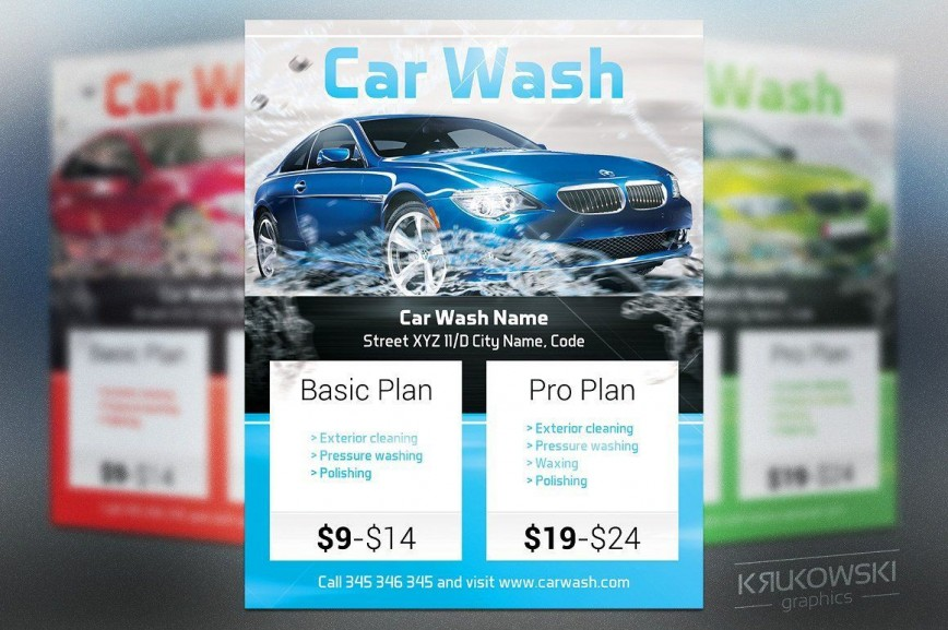 004 Excellent Car Wash Flyer Template High Def  Free Download