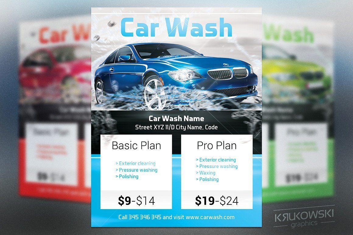 004 Excellent Car Wash Flyer Template High Def  Free Fundraiser DownloadFull