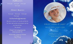 004 Excellent Celebration Of Life Invitation Template Free Concept
