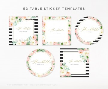 004 Excellent Cute Shipping Label Template Free Image 360