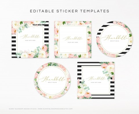 004 Excellent Cute Shipping Label Template Free Image 480