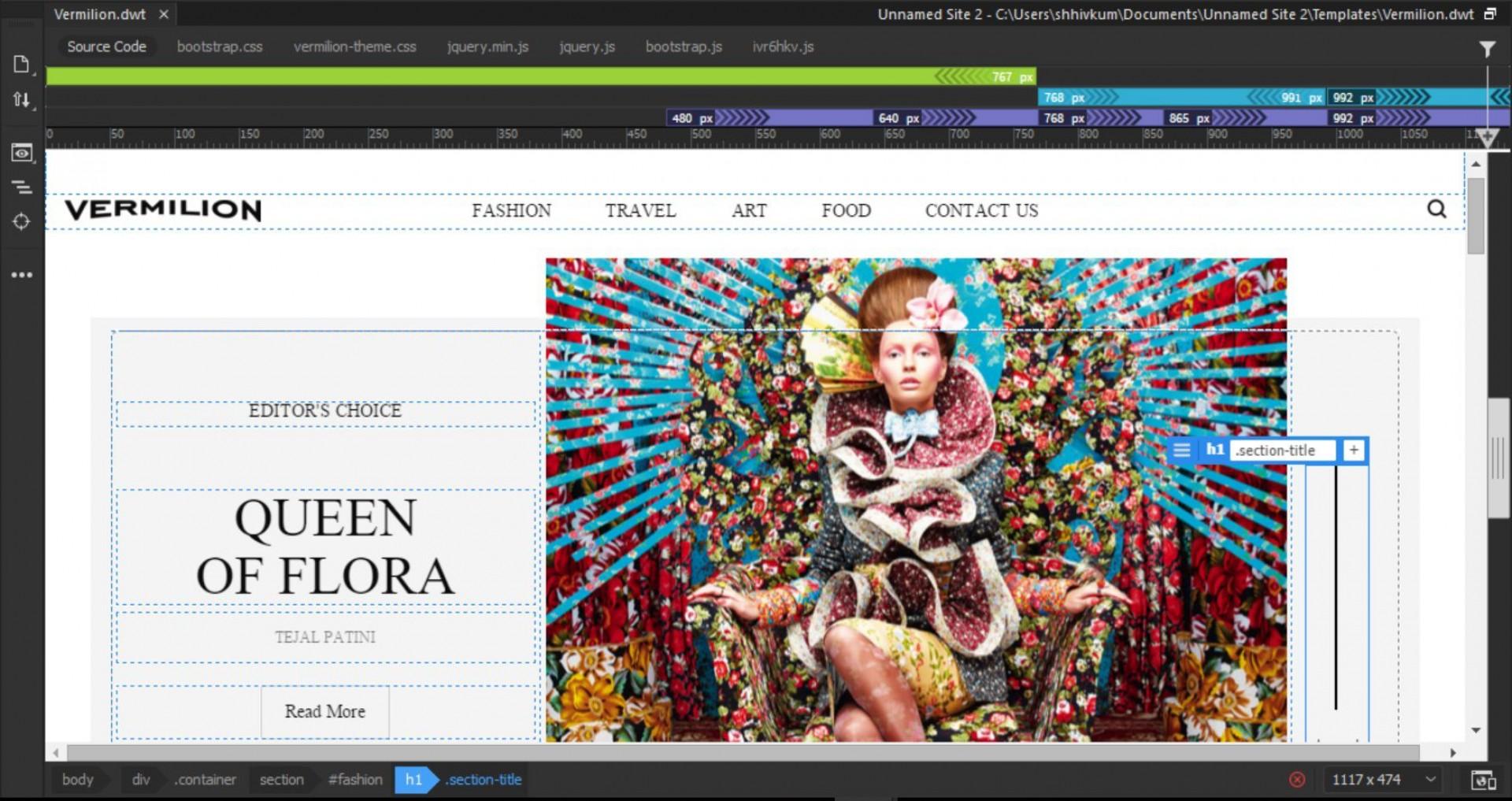 004 Excellent Dream Weaver Web Template Idea  Templates1920