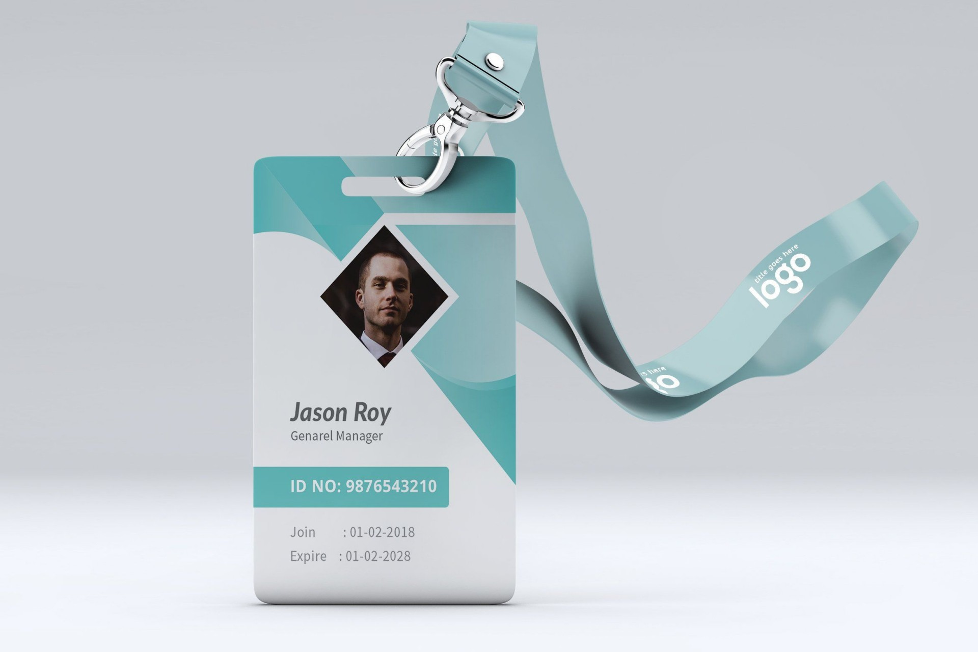 004 Excellent Employee Id Card Template Sample  Free Download Psd Word1920