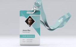 004 Excellent Employee Id Card Template Sample  Free Download Psd Word