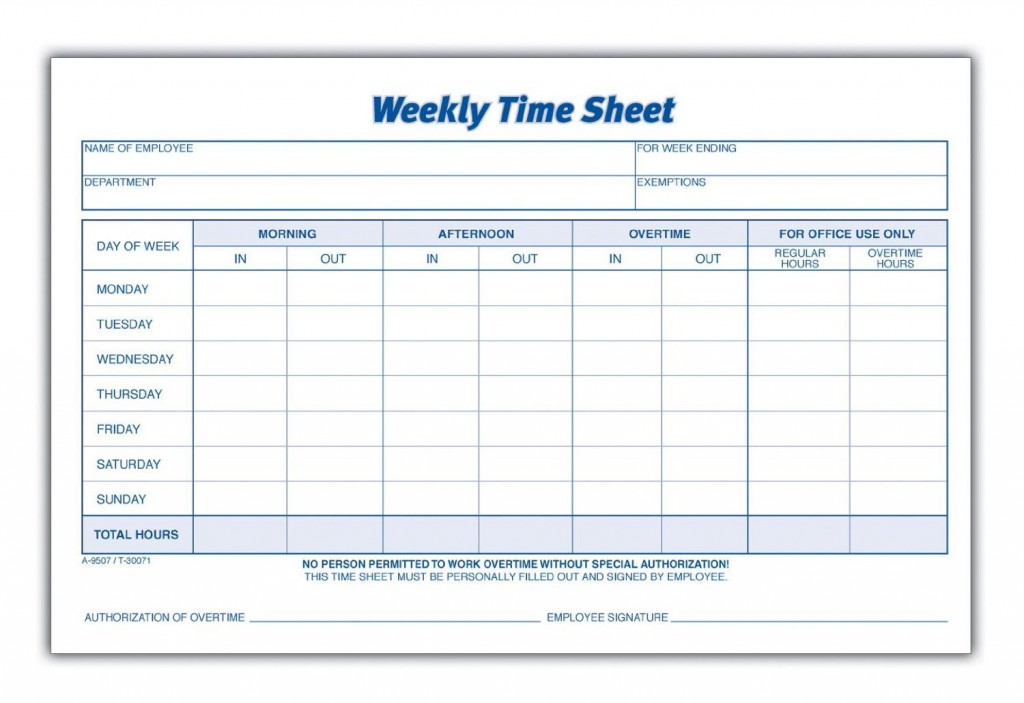004 Excellent Employee Time Card Form Concept  Timesheet Template Excel Sheet FreeLarge