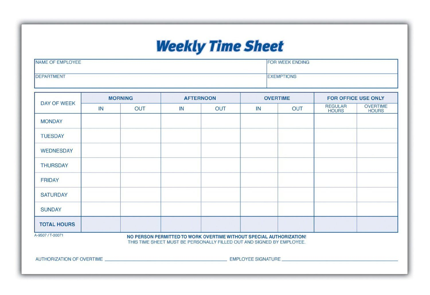 004 Excellent Employee Time Card Form Concept  Timesheet Template Excel Sheet FreeFull