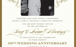 004 Excellent Free 50th Wedding Anniversary Party Invitation Template Image  Templates