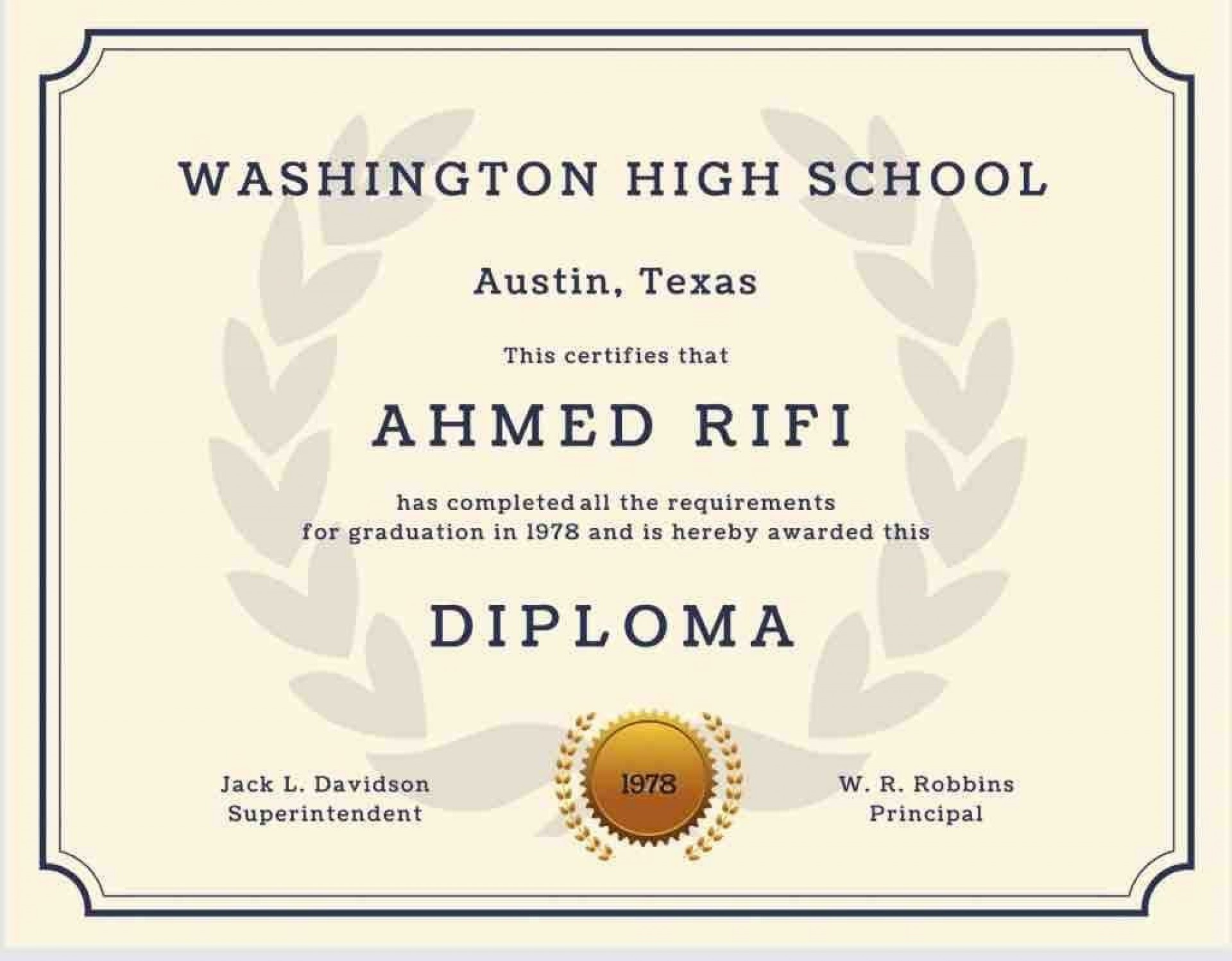 004 Excellent Free High School Diploma Template Design  Templates Print Out Editable Printable1920