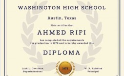 004 Excellent Free High School Diploma Template Design  Templates Print Out Editable Printable