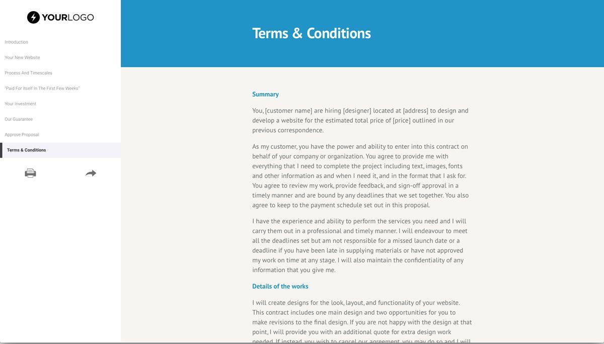 004 Excellent Freelance Web Design Proposal Template Full