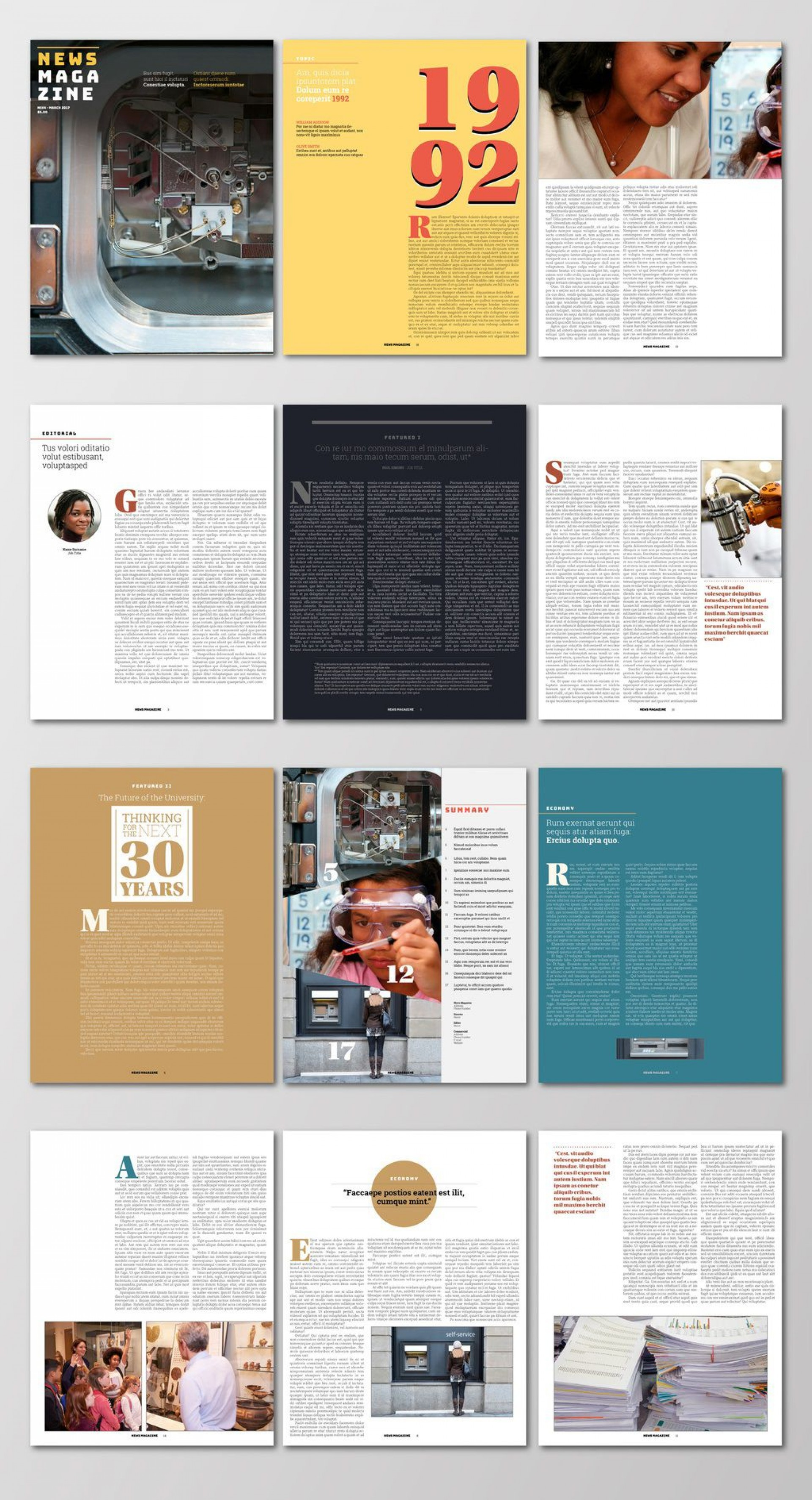004 Excellent Indesign Magazine Template Free Concept  Cover Download Indd Cs51920