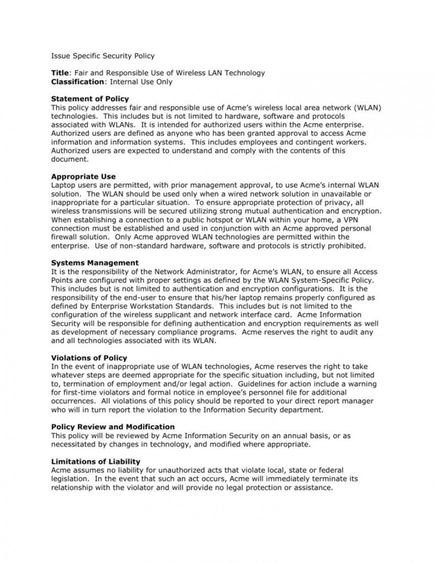 004 Excellent It Security Policy Template Photo  Download Free For Small Busines Pdf868