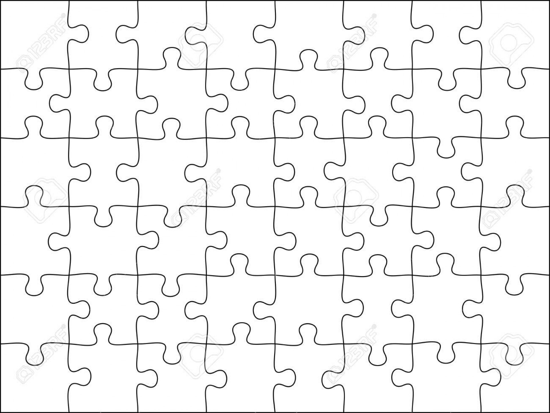 004 Excellent Jig Saw Puzzle Template Photo  Printable Blank Jigsaw Vector Free Png1920