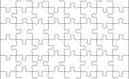 004 Excellent Jig Saw Puzzle Template Photo  Printable Blank Jigsaw Vector Free Png
