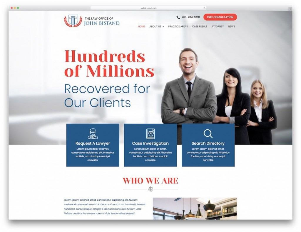 004 Excellent Law Firm Website Template Free Picture  WordpresLarge