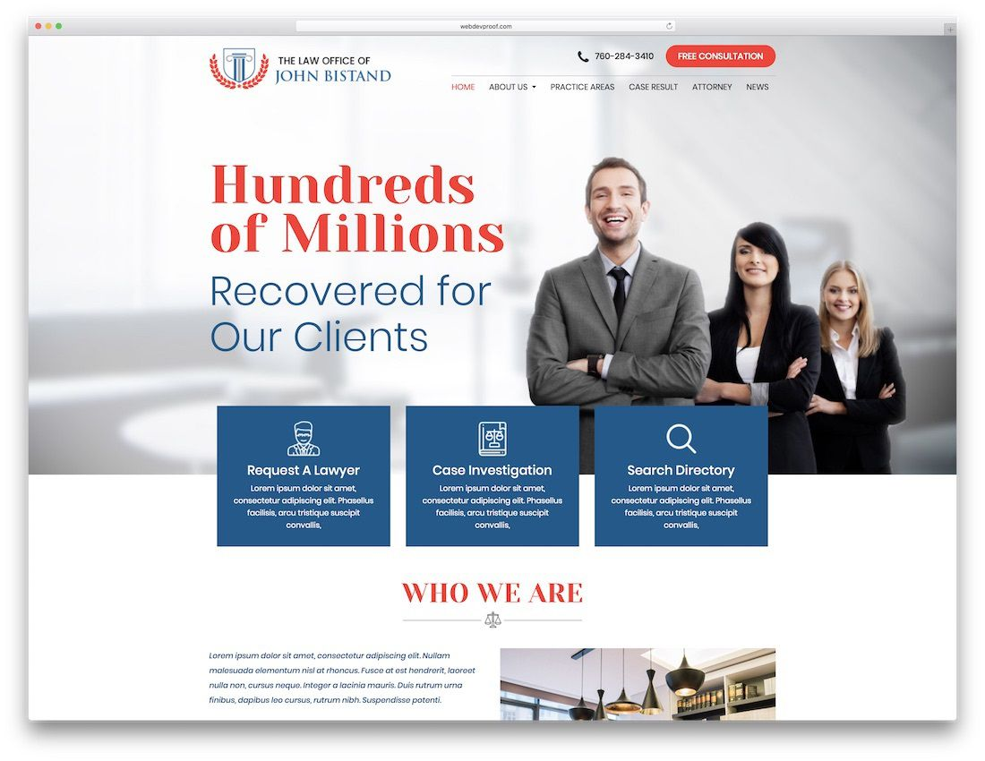 004 Excellent Law Firm Website Template Free Picture  WordpresFull