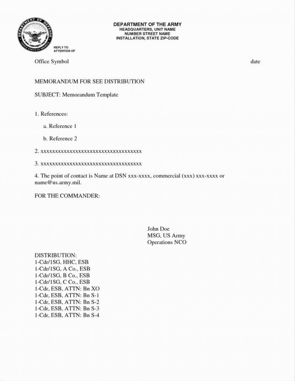 004 Excellent Memorandum For Record Template High Definition  Army Pdf Fillable Example WlcLarge