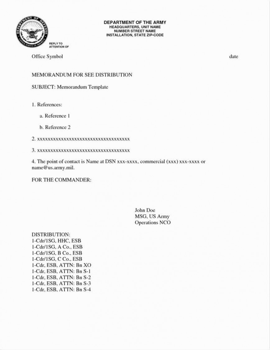004 Excellent Memorandum For Record Template High Definition  Army Example Alc Air Force Format Pdf