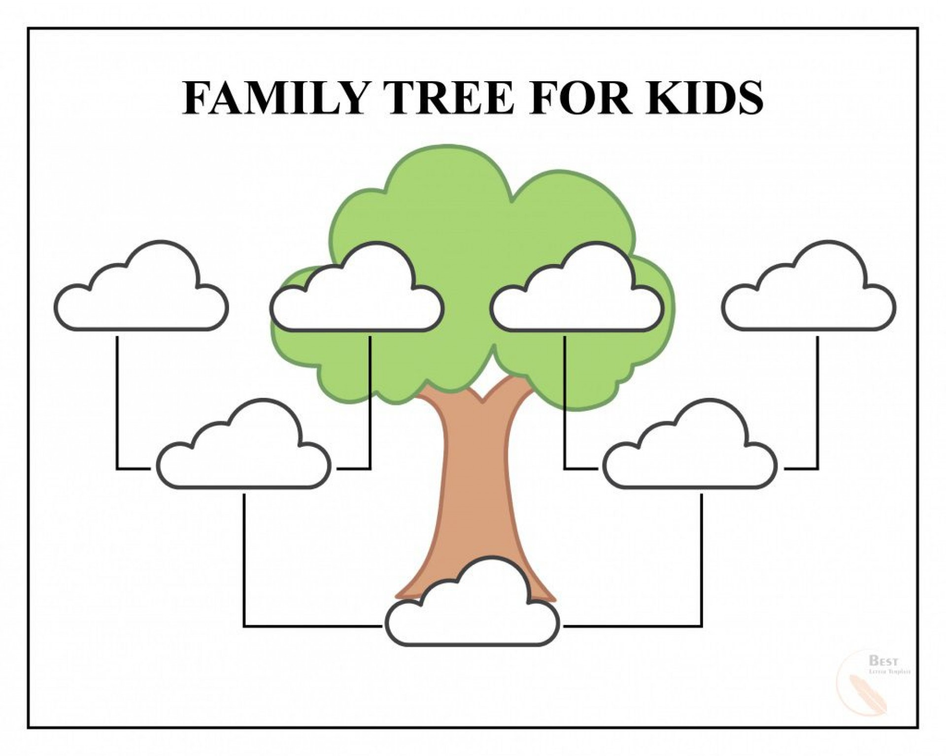 Printable Family Tree Template Addictionary