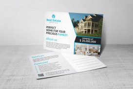 004 Excellent Real Estate Postcard Template Design  Agent Free Microsoft Word Investor