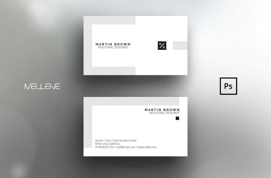 004 Excellent Simple Busines Card Template Photoshop Sample Large