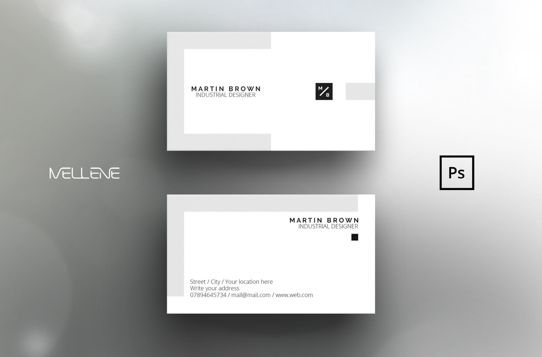 004 Excellent Simple Busines Card Template Photoshop Sample Full