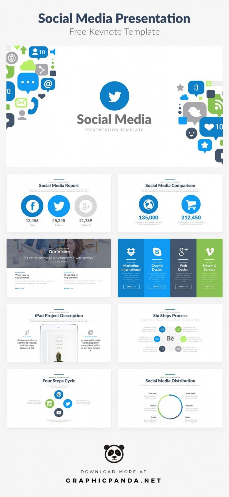 004 Excellent Social Media Report Template Inspiration  Powerpoint Free Download728