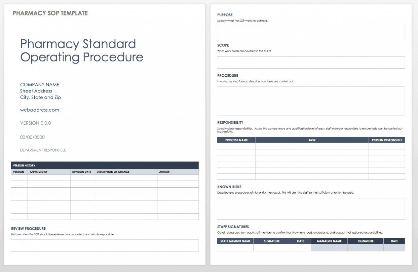 004 Excellent Standard Operating Procedure Template Word Highest Clarity  Microsoft (sop) Format Download1400