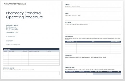 004 Excellent Standard Operating Procedure Template Word Highest Clarity  Microsoft (sop) Format Download480