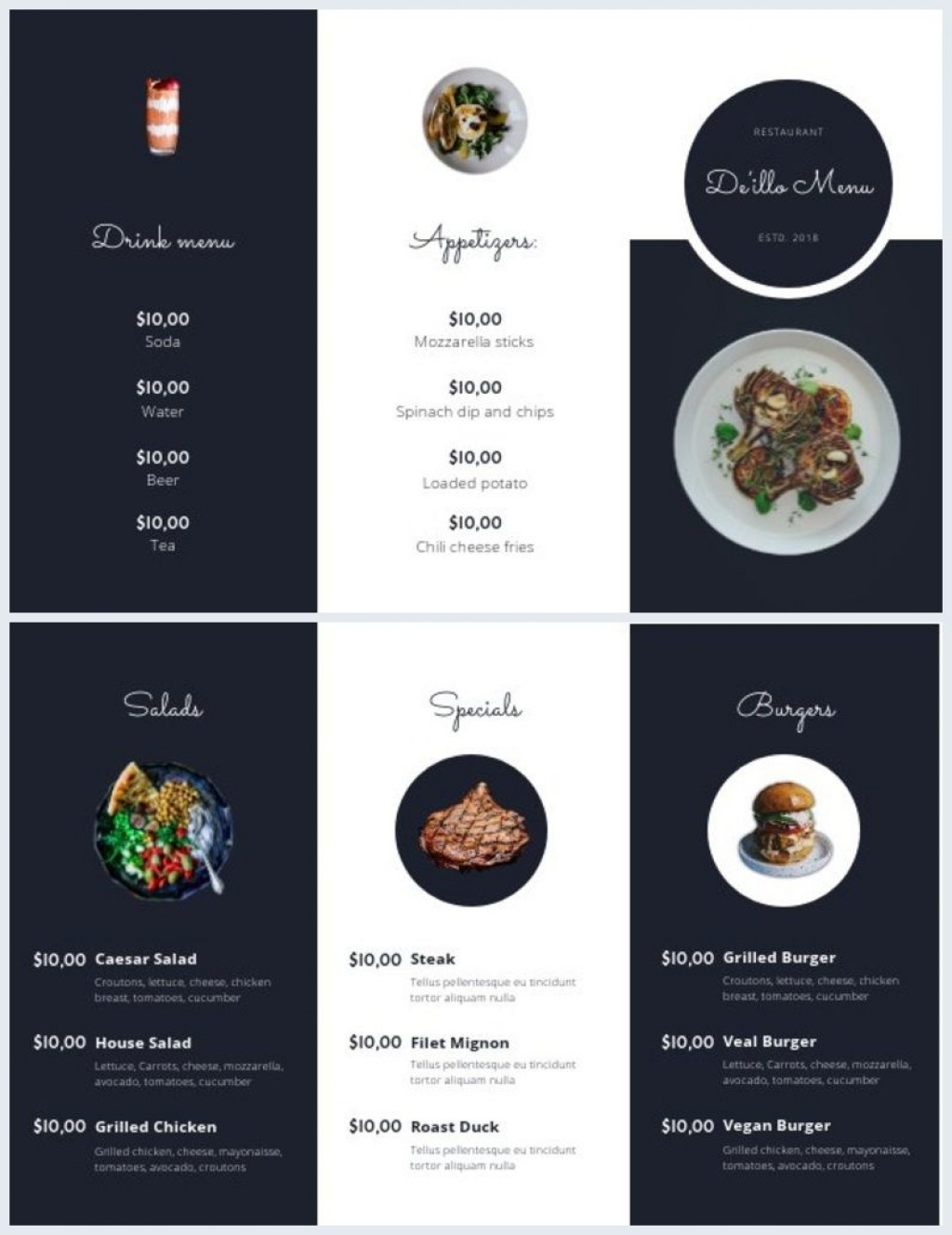 004 Excellent Take Out Menu Template High Def  Tri Fold Free Word Restaurant AwayLarge