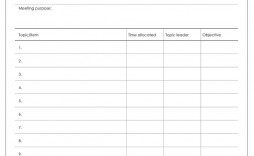 004 Excellent Team Meeting Agenda Template Sample  Word Doc