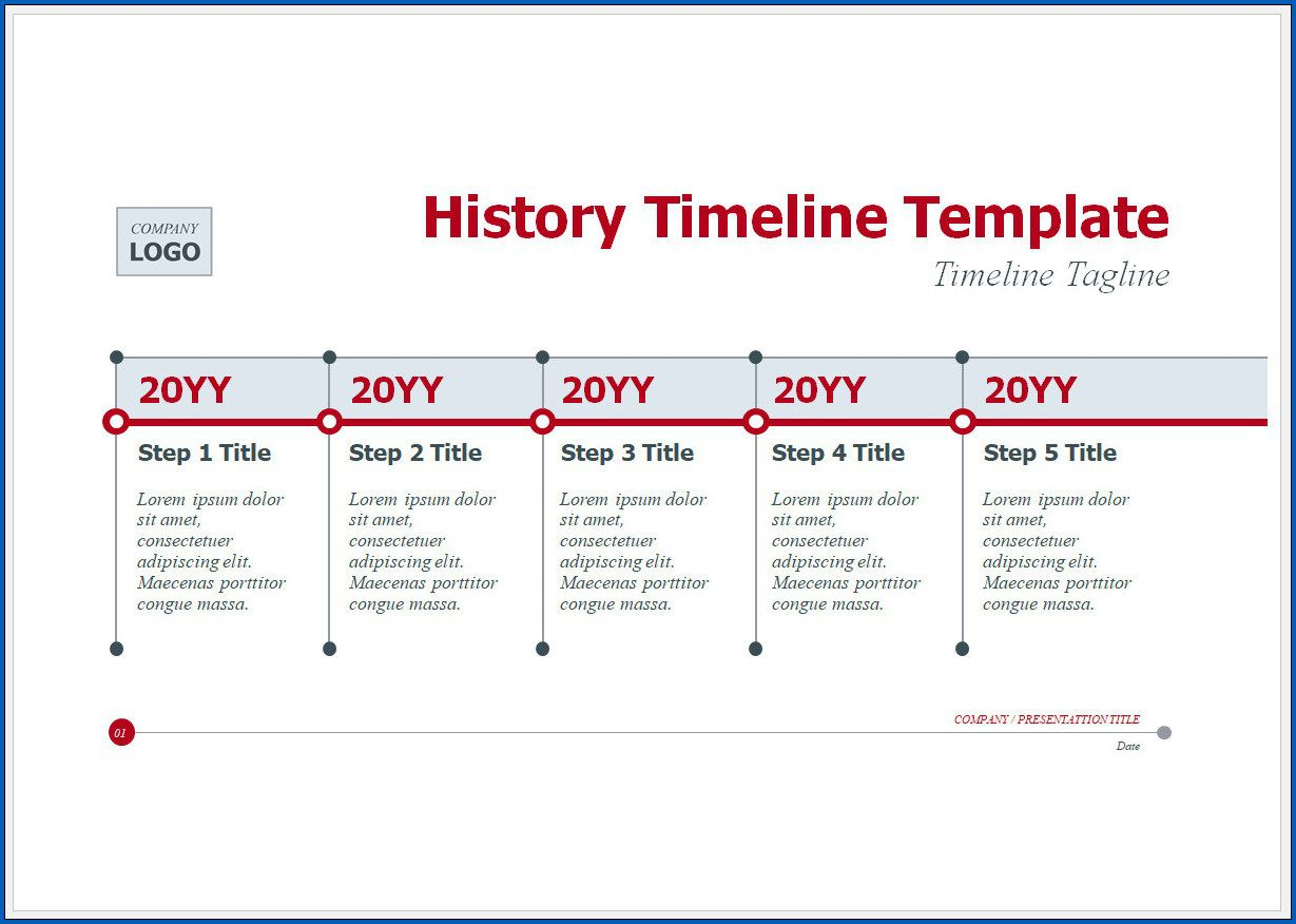 004 Excellent Vertical Timeline Template For Word Highest Clarity  BlankFull